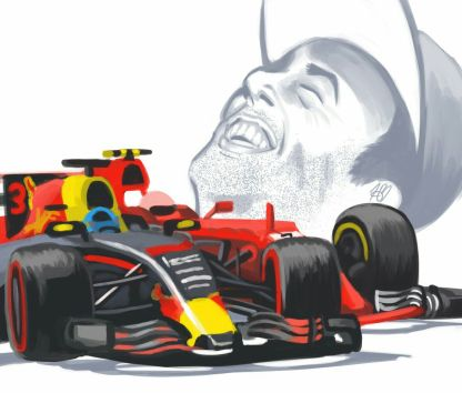 Ricciardo-Raikkonen Battle (2017)