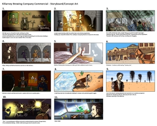 Storyboard/concept art. Commissioned by StormLight.
