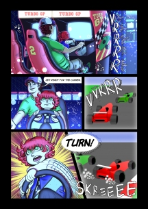 Webcomic - story and art by myself. paradiso-comic.com